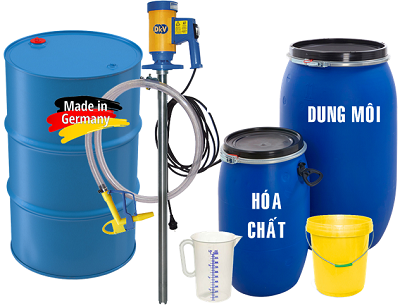 Máy bơm hóa chất từ thùng phuy giá rẻ tại Hà Nội